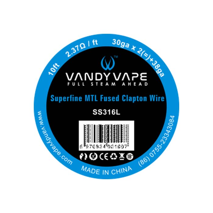 Vandy Vape Superfine MTL Fused Clapton SS316L, 30ga, 3m